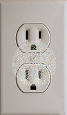 Wall Electric Outlet Texture