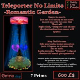 TELEPORT NO LIMITS-ROMANTIC GARDEN