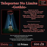 TELEPORT NO LIMITS-GOTHIC