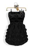 * Maison Close * Mesh Ruffled Dress Black PROMO !