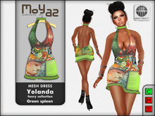 Yolanda Mesh Dress fancy collection Green Spleen
