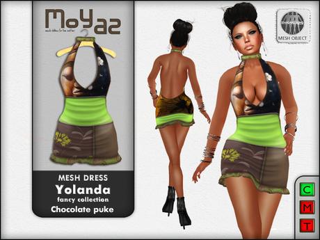 Yolanda Mesh Dress fancy collection Chocolate Puke