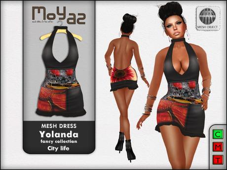 Yolanda Mesh Dress fancy collection City Life