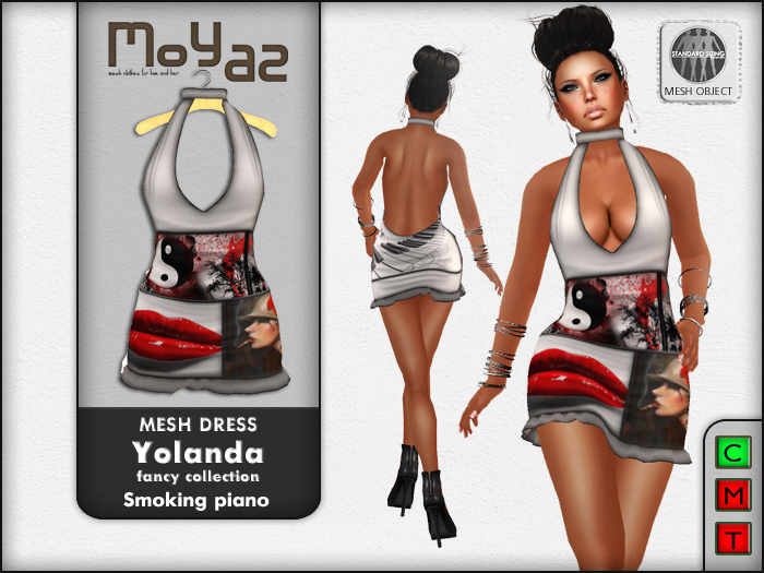 Yolanda Mesh Dress fancy collection Smoking Piano
