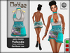 Yolanda Mesh Dress fancy collection Caribbean Sea