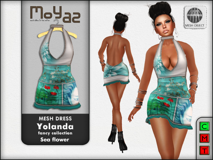 Yolanda Mesh Dress fancy collection Sea Flower
