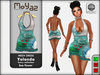 Yolanda Mesh Dress fancy collection Sea Flower