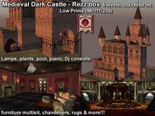 Medieval Dark Castle * Low prims - Rez box - PROMO