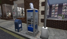 Vintage Phone Booth (Blue)