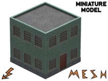 Miniature Mesh Apartment Block Building (0.5m deco item)