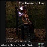 The Electric Chair - Halloween, Gothic furniture