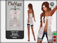 Janis Mesh Top White