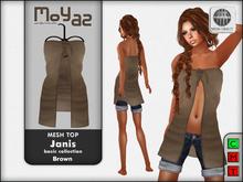 Janis Mesh Top Brown