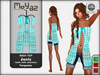 Janis Mesh Top turquoise - table cloth
