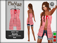 Janis Mesh Top red - table cloth