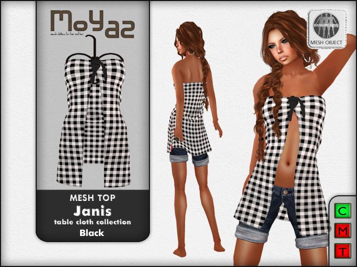 Janis Mesh Top black - table cloth
