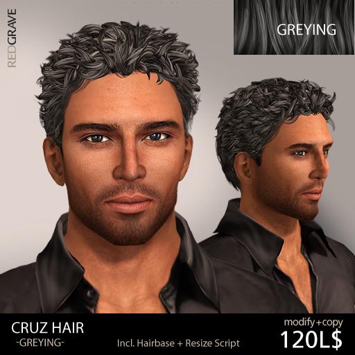 Hair CRUZ - Greying - REDGRAVE