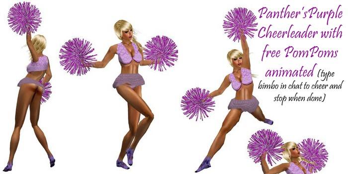 Panther's Purple Cheerleader