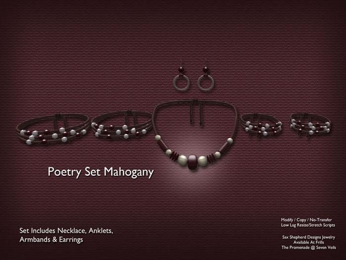 !SSD ~ Frills ~ Poetry Jewelry Set (Mahogany)