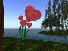 Red Heart Fantasy Tree by  JenJen