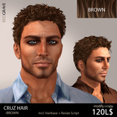 Hair CRUZ - Brown - REDGRAVE