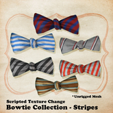 (W) Bow Tie - Striped Fabrics