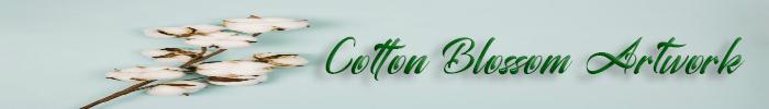Cotton blossom artwork 700x100