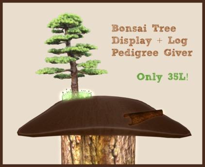 Bonsai Tree Display and Log Pedigree Giver for KittyCatS