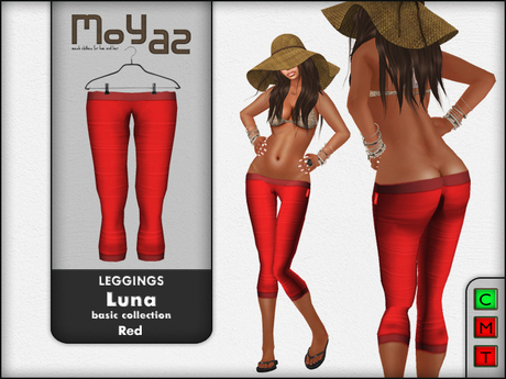 Luna leggings basic collection Red