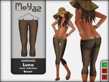 Luna leggings basic collection Brown