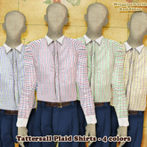 (W) Tattersall Plaid Shirts - 4 Colors