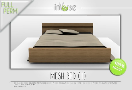 inVerse *MESH* bed 1 FULL PERM