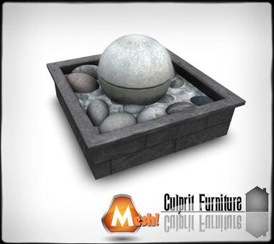 Culprit Pebble Orb Fountain (mesh)