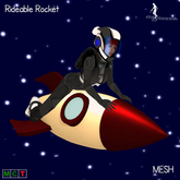 *~*HopScotch*~* Rocket Woman - Rideable Rocket