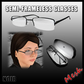 [LW] Semi Frameless Glasses: Frosted Noir (Mesh)