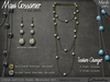 Necklace - Lydia Lattice Pearl Necklace Set - Texture Changer