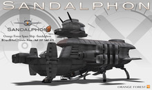 O.F Space Ship - Sandalphon (No-phy Drivable)