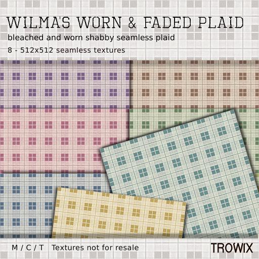 Trowix - Wilma's Worn & Faded Plaid Textures