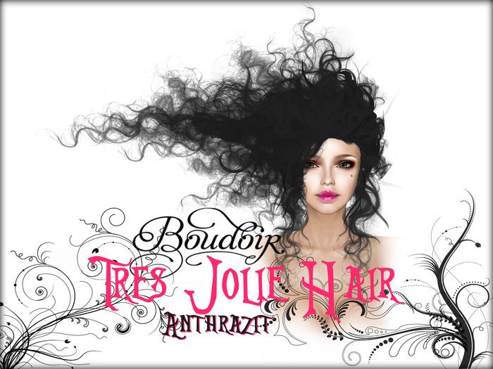 Tres Jolie Baroque Hair Dark Grey