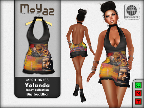 Yolanda Mesh Dress fancy collection Big Buddha