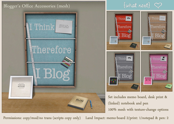 {what next} Blogger's Office Accessories