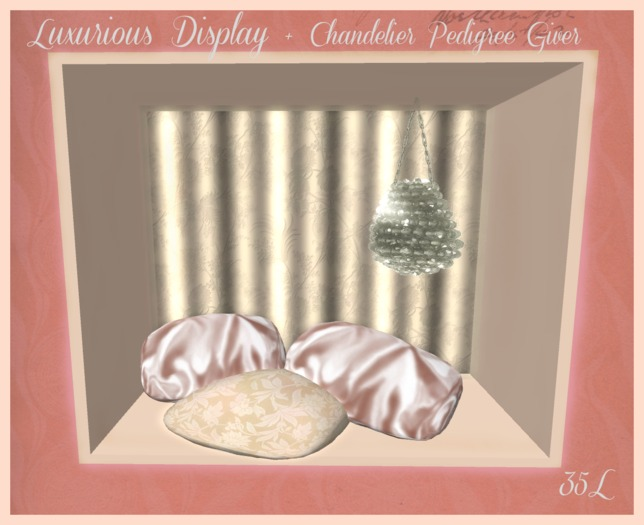 Luxurious Display and Chandelier Pedigree Giver for KittyCatS