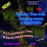 Fantastic NEW Spooky Tree with animated crows