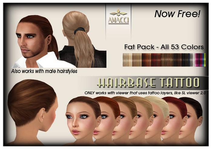 Amacci Hairbase Tattoos - FAT PACK