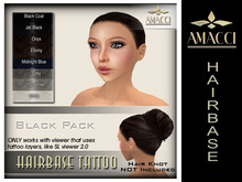Amacci Hairbase Tattoos - Black