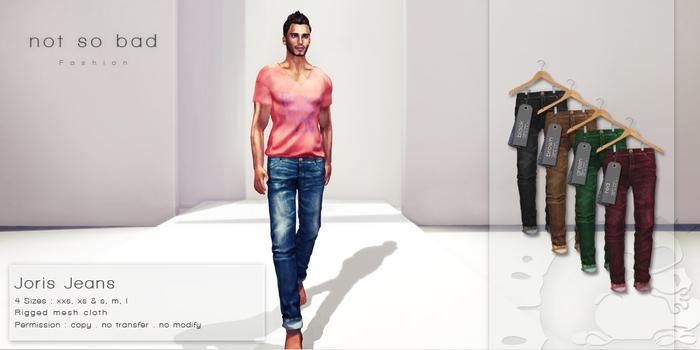 not so bad . mesh . JORIS jeans . full pack 2 . 4 colors