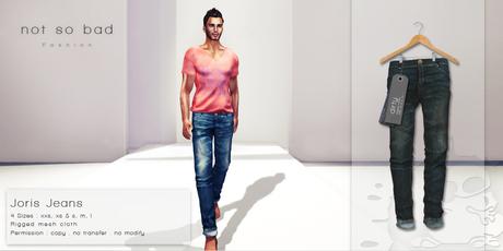 not so bad . mesh . JORIS jeans . dirty