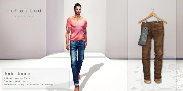 not so bad . mesh . JORIS jeans . brown