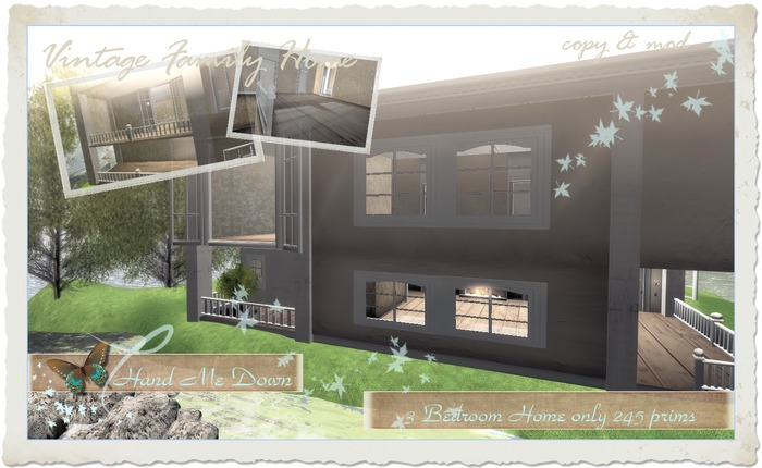 ::Hand Me Down:: - Large & Low prim Vintage Family Home @ a special intro price for a limited time only!!