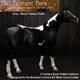 BC - Oreo - Black Tobiano Pinto Texture Pack for Breeders Choice Mesh Horse Avatar